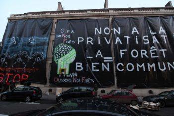 Bâchage du siège de l'ONF à Nancy