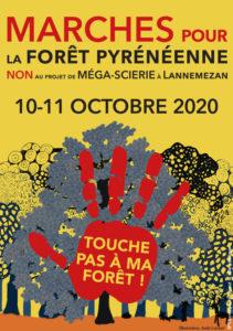 """SOS forêt Pyrénées participe au collectif """"touche pas ma forêt"""" pour lutter contre une méga-scierie à Lannemezan"""